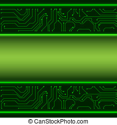 Microchip background EPS10 vector