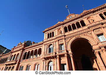 Casa Rosada - The Casa Rosada, the government building in...