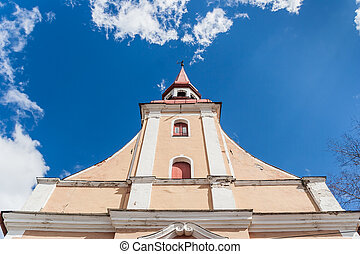 Parnu church spire - Spire of a church in central Parnu,...