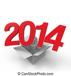 New Year 2014 - New year 2014 isolated on white background.