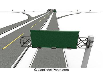 Highway Interchange - A Highway interchange 3D rendered...
