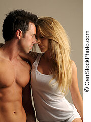 Loving Couple - A sexy young couple in a passionate embrace