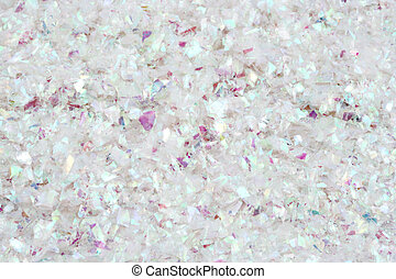 glitter snow background - closeup of christmas glitter that...