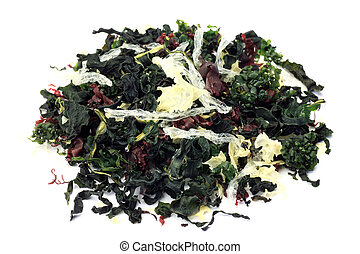 dry seaweed - I took dry seaweed in a white background.