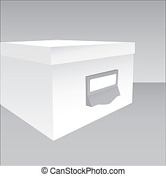 3d illustration of a closed box