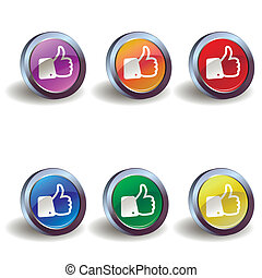 Like icon buttons
