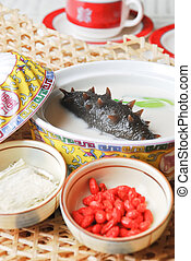 china delicious food??sea slug and wolf berry - food in...