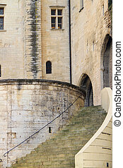 The Popes' Palace in Avignon, France - The Popes' Palace in...