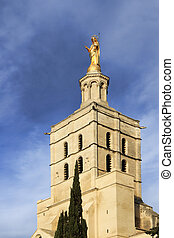 irgin Mary statue in Avignon, France - Virgin Mary statue...