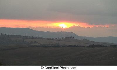 Sunset Montalcino