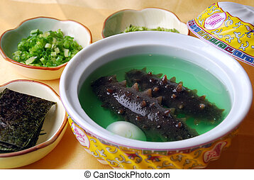 china delicious food-sea slug and egg - food in china-sea...