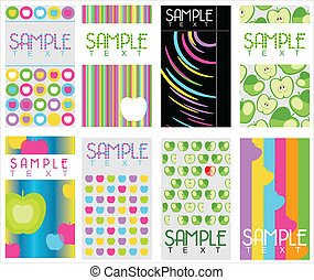 set of 8 abstract business cards