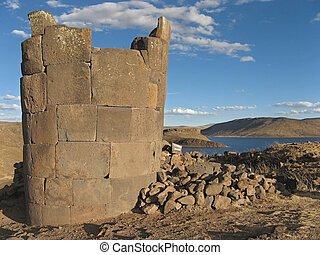 Funerary tower in Peru
