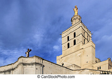 The Popes Palace in Avignon, France - The Popes Palace in...
