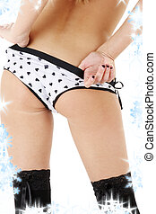 back in hearts pattern panties - voluptuous lady back in...