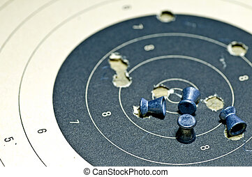 airgun ammunition with target paper