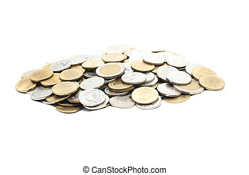 coin money on white background