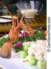 Chinese food- pepper lobster