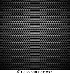 Seamless Circle Perforated Carbon Grill Texture - Technology...