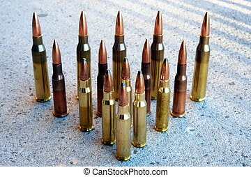 rifle ammunition - various types of rifle ammunition