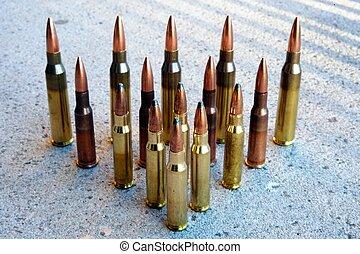 rifle ammunition - various types of rifle ammunition