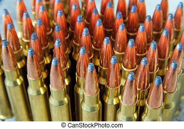 ammunition - pile of rifle ammunition