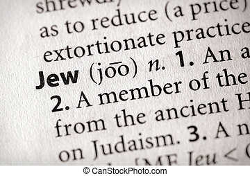 Jew - Selective focus on the word Jew Many more word photos...