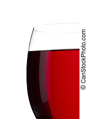 cropped image of red wine