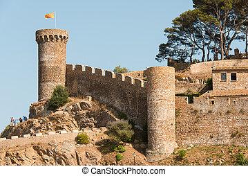 Castle at Tossa de Mar Spain