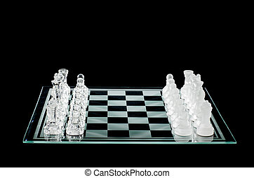 chess pieces and chess board - Chess pieces and chess board...