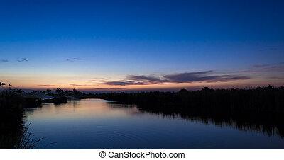 sunset river lake - Beautiful sunset at the river lake, nice...