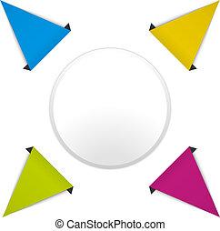 color cycle diagram with arrows