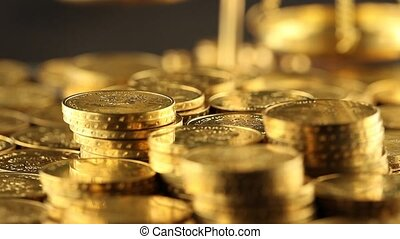 Money - Coins and gold- Finance Concept