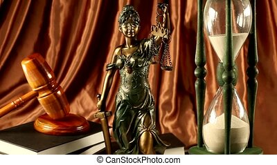 Law concept - Antique statue of justice, law