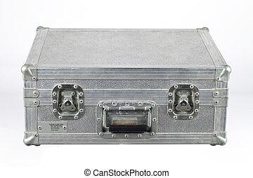 close up shot of metal box - View of a metallic rectangular...