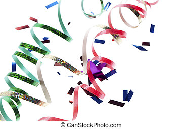 close up shot of rolled up streamers - Close-up shot of...