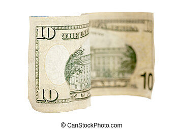 close up image of a ten dollar