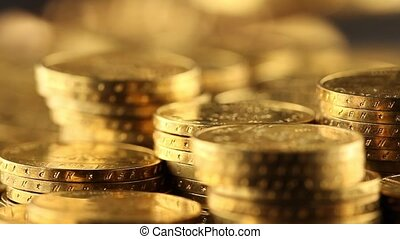 Gold coins, money - Coins and gold- Finance Concept
