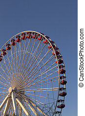cropped image of giant wheel at chicagos navy pier
