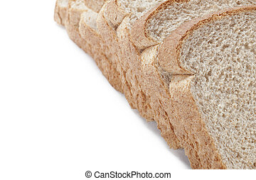 cropped image of sliced brown bread - Cropped close-up shot...