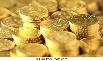 Gold coins, money