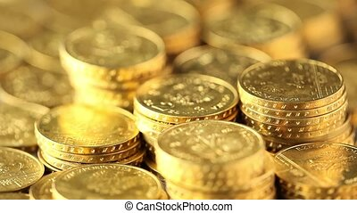 Gold coins - Coins and gold- Finance Concept