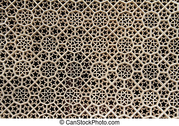Geometric marble carvings - Texture or background of white...