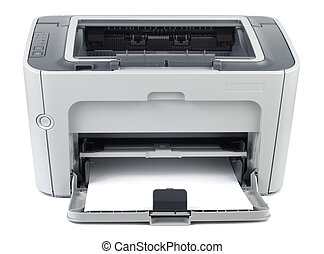 Modern Office Printer - Modern style office printer isolated...
