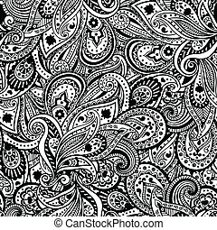 Beautiful Paisley pattern - Beautiful Black Paisley pattern