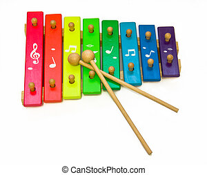 toy xylophone isolated on white