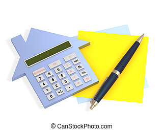 Calculation - Conceptual image - calculation of the domestic...