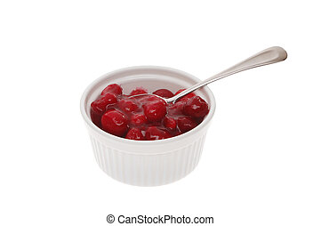 Cranberry sauce - Fresh cranberry sauce with whole fruit in...