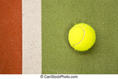 Tennis court - Close up of an indoor tennis court
