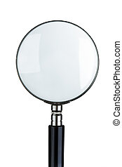 magnifying glass - close-up of magnifying glass isolated on...